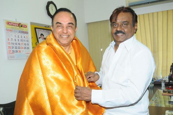 Why did Subramanian Swamy meet Captain Vijaykanth