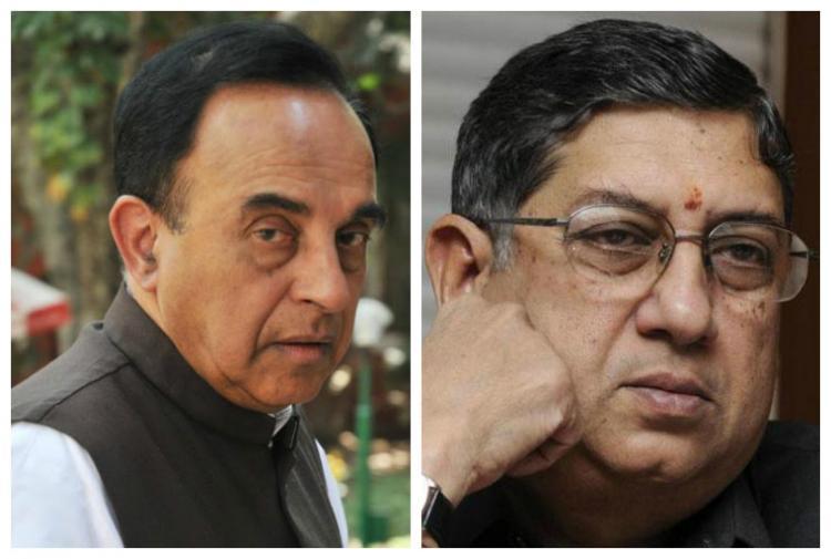 Subramanian Swamy says his investigation shows Dawood targeting N Srinivasan
