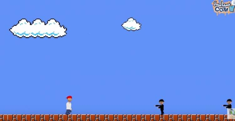Artist creates Refugee Mario to highlight plight of Syrians crossing Europe
