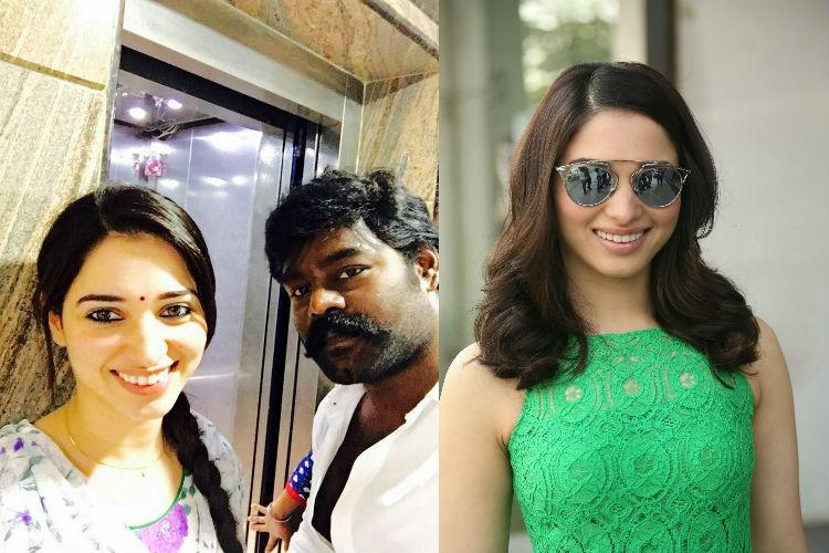 Is there friction between Tammannah and Dharmadurai producer RK Suresh