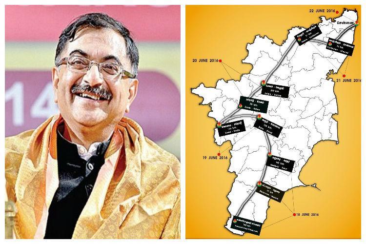 BJP MP Tarun Vijay brings Thiruvalluvar to Haridwar all the way from Kanyakumari