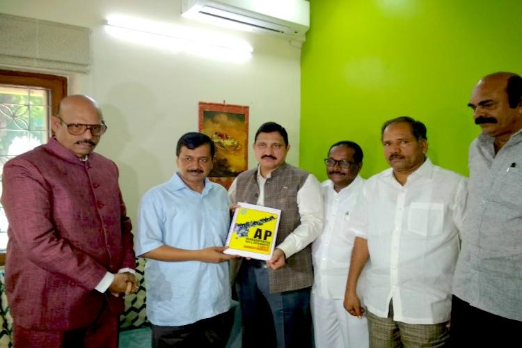 TDP leaders meet Arvind Kejriwal seek support for fight against BJP