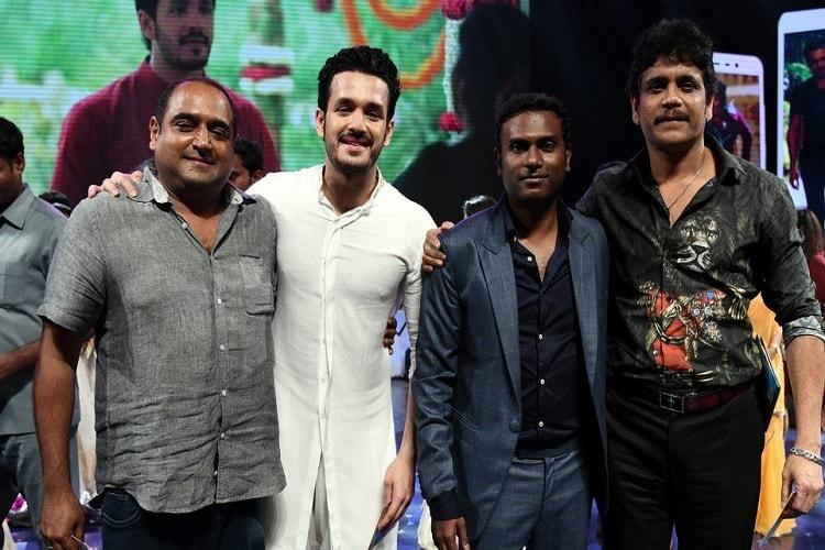 Akhil Akkineni springs surprise at Hello audio launch croons song