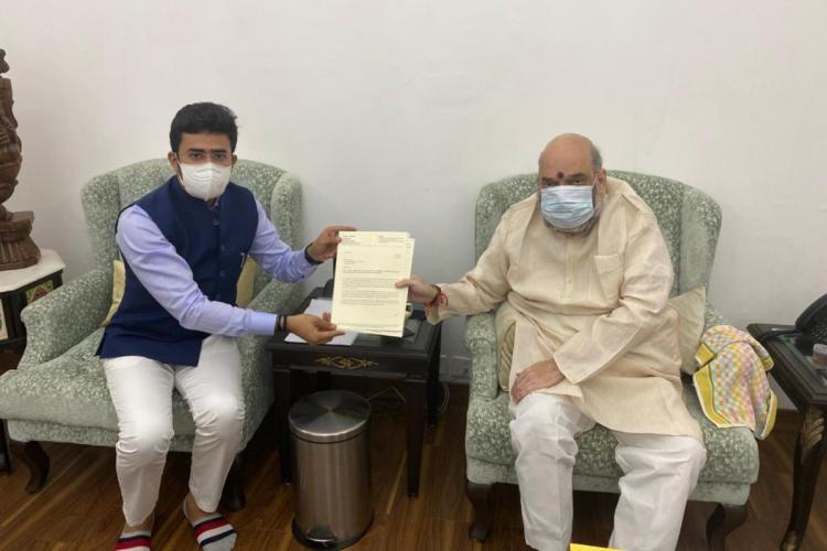 Tejasvi Surya met Amit Shah last week