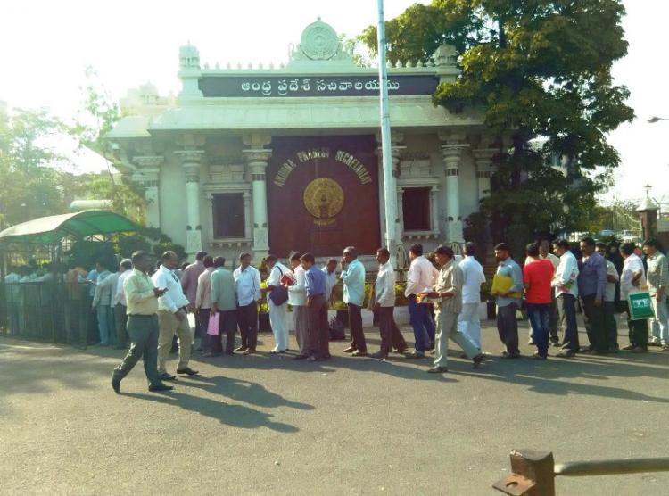 Telanganas new housing scheme fuels aspirations among the poor hundreds queue up