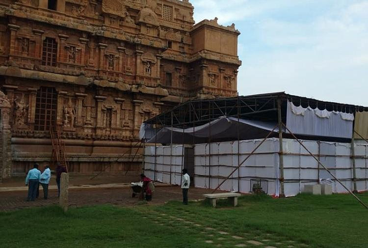 Why was Art of Living allowed to set up camp at heritage site HC summons officer