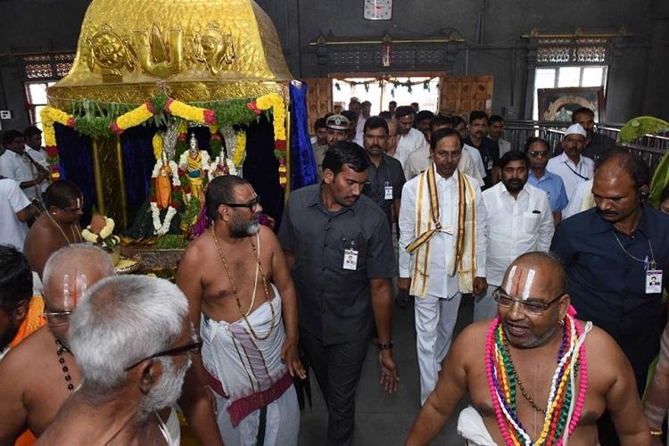 Pilgrim race Telanganas Yadadri temple gets massive makeover to compete with Andhras Tirumala