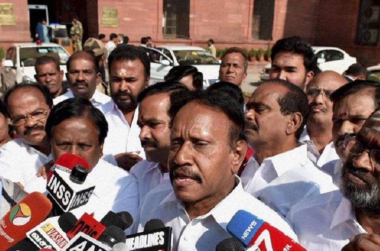 DMK and BJP have secret alliance alleges AIADMK leader Thambidurai