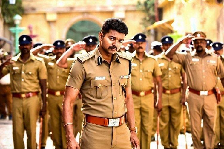 Theri Vijay Police Dress Cute Photos Min Itok Kajal Aggarwal Images Hd