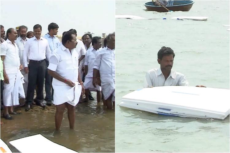 When common sense evaporates TN minister floats tons of thermocol on dam to prevent water loss