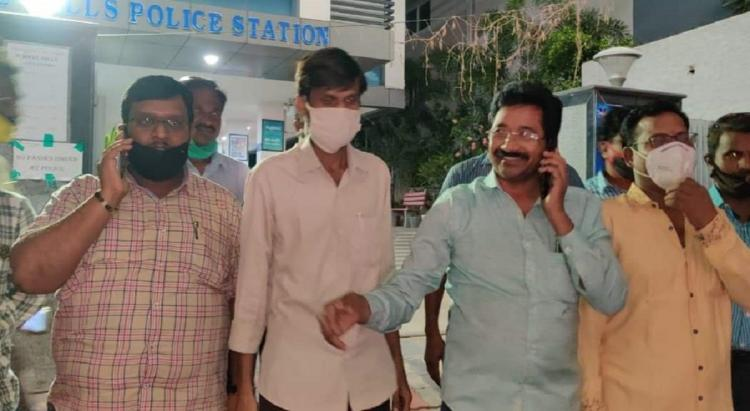 Three journalists who got arrested by Telangana police