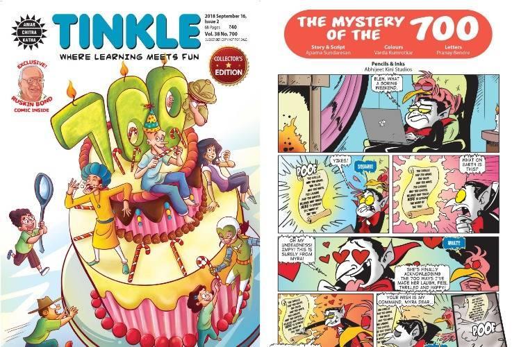 Tinkles 700th issue A bumper ride with Suppandi Shikari Shambu and Nasruddin Hodja