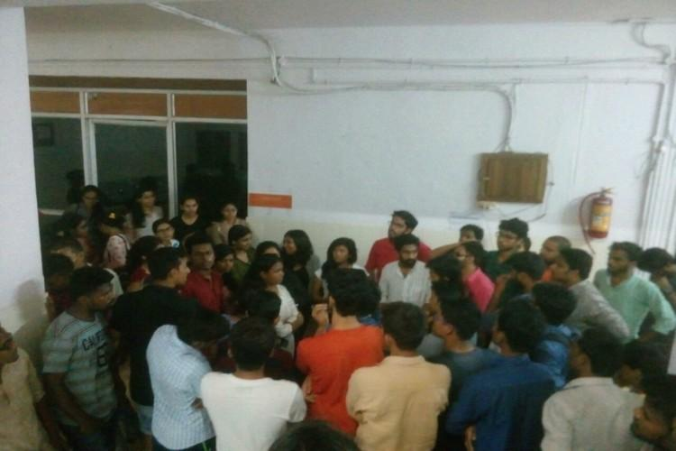 TISS Hyderabad students protest institutes new election rules call it undemocratic
