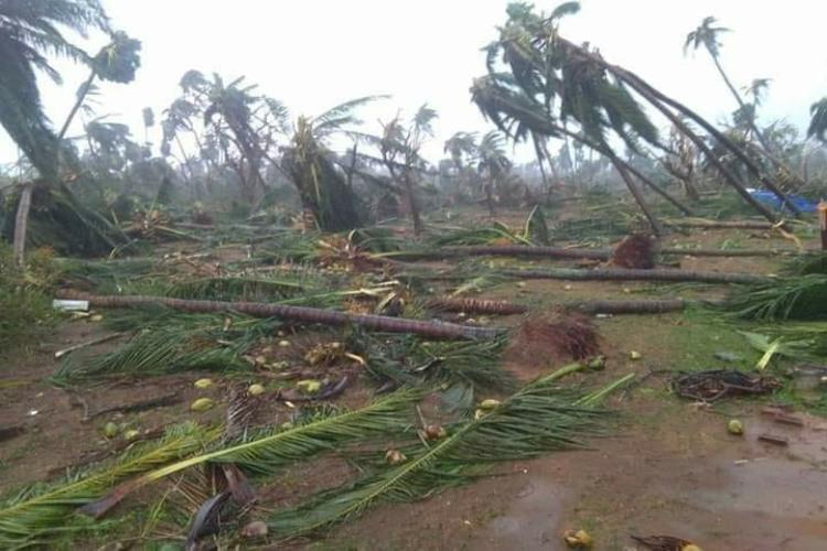 Cyclone Titli damages 8000 houses affecting 9 lakh people in Andhra