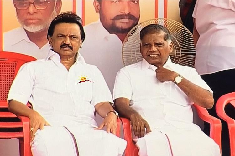 TN opposition parties protest Centres refusal to provide NEET exemption to state