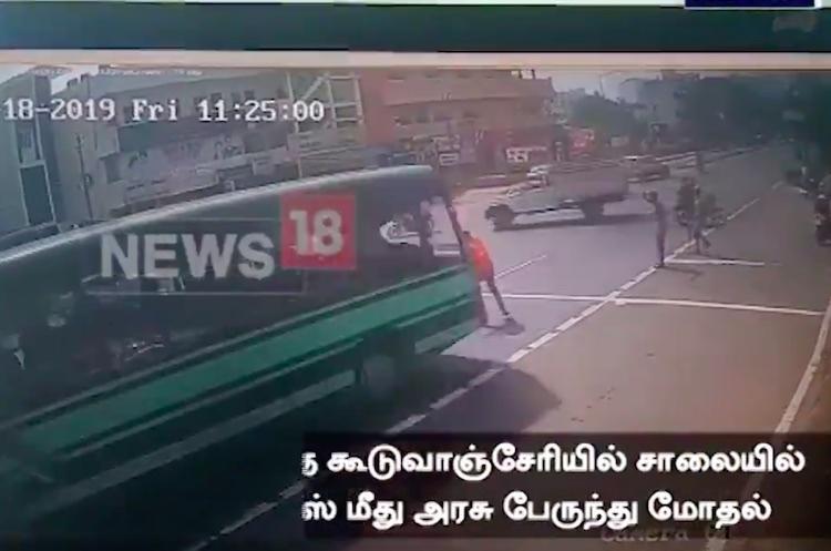 Speeding govt bus runs over traffic cop in Chennai driver arrested