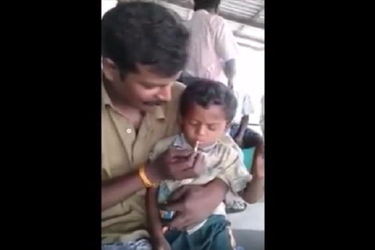 Video 5-year-old boy forced to smoke beedi police on the lookout for offenders