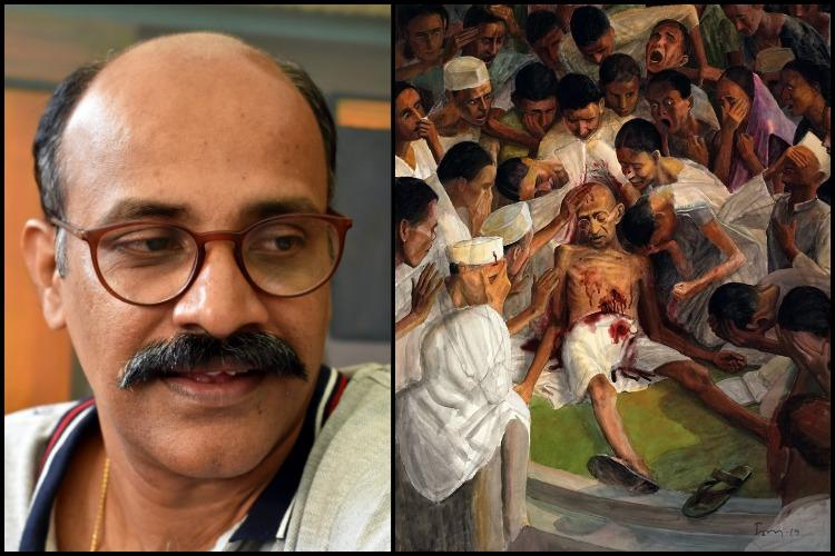 Art should echo times we live in Artist behind Gandhi cover on Kerala Budget
