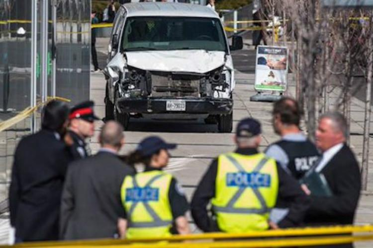 At least 10 killed as van ploughs into pedestrians in Toronto