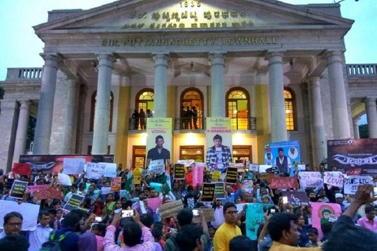 Not In My Name resonates in the South citizens hold protest in Bengaluru Hyderabad Kerala