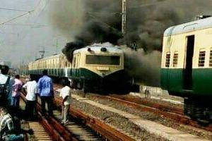 Fire breaks out in Chennai local train no injuries