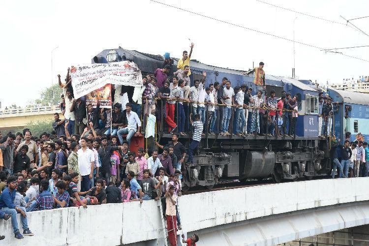 Jallikattu protests Thousands of train passengers face inconvenience in TN