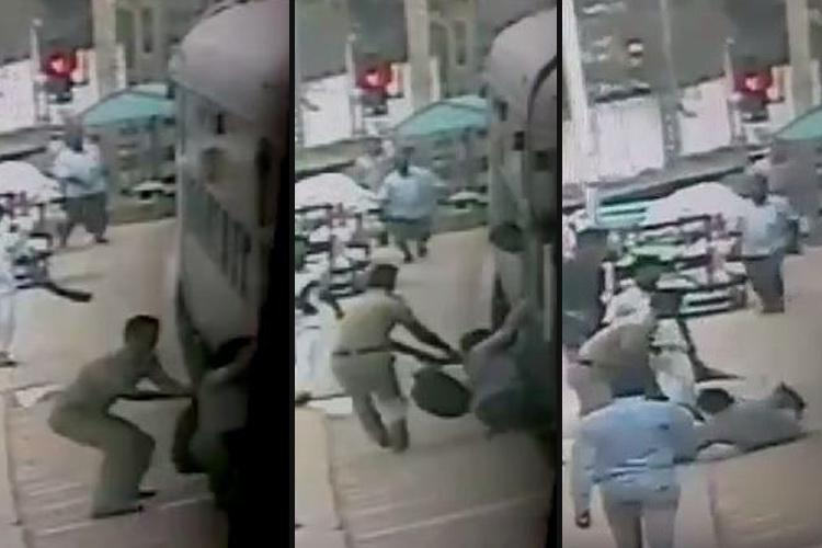 Bravo This quick thinking TN cop saved a passenger from being crushed by a train