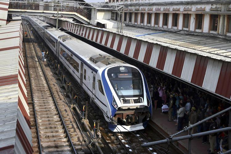 Indias fastest Train18 runs over cattle breaks down a day after launch