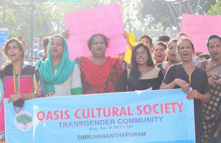 Transgender activists protest derogatory article in Malayalam magazine