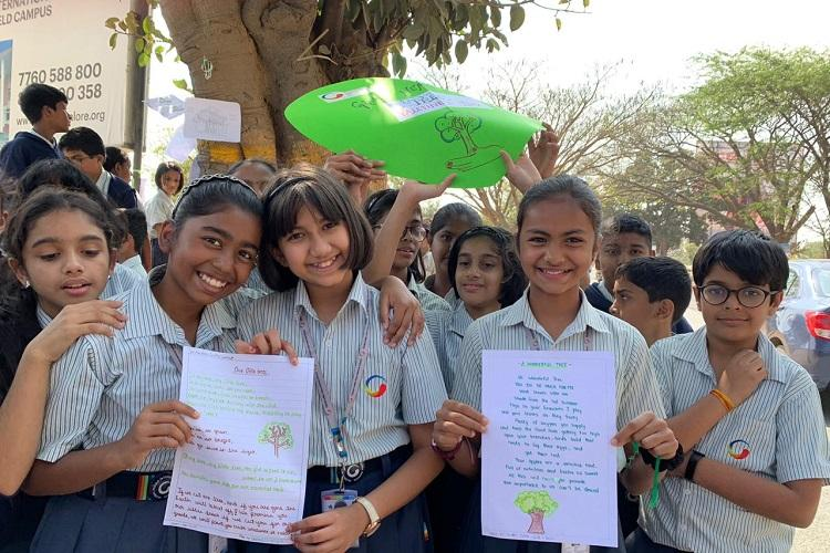 Hugs for trees Bengaluru students celebrate Valentines Day with unique protest