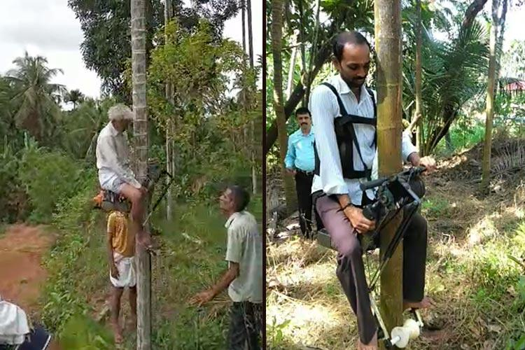 Watch This scooter can climb arecanut trees in 30 seconds