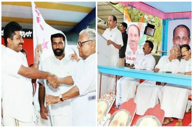 K Babu and M Swaraj slog it out in Tripunithura with BJP and an independent candidate too in the offing