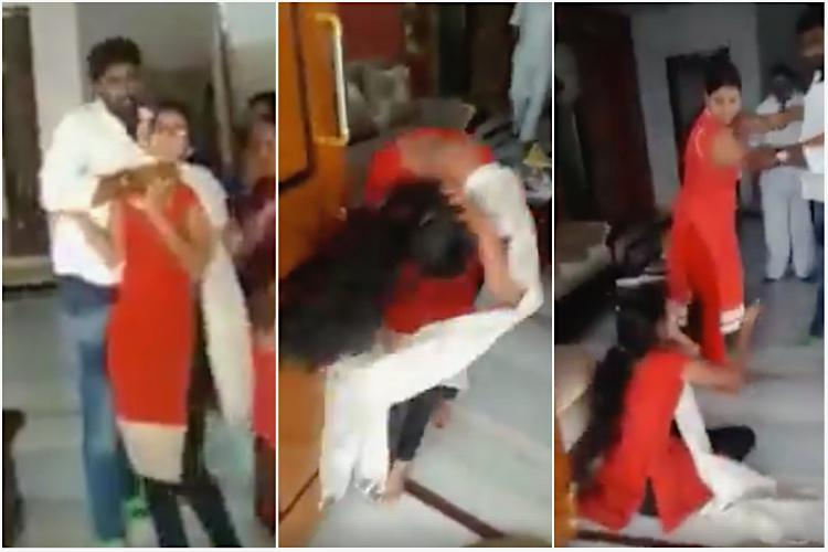 Video Telangana man thrashing first wife who had a girl shows how patriarchy works