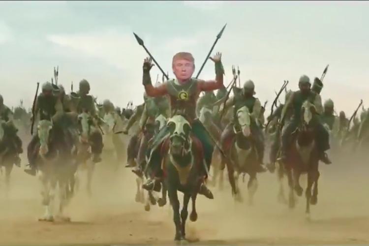 Watch US President Donald Trump tweets video of himself as Baahubali