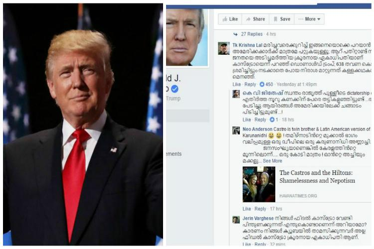 Lal salaam Castro Trump gets a taste of Malayalam trolling after his post on the communist leader