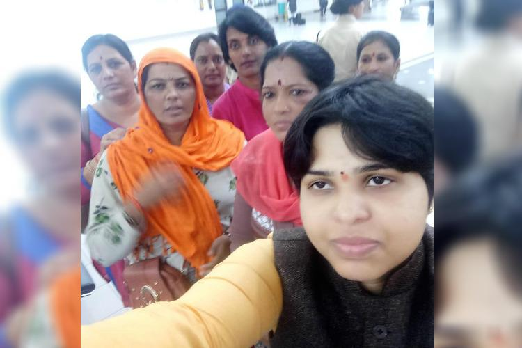 Several hours after landing in Kerala Trupti Desai still stuck inside Kochi airport