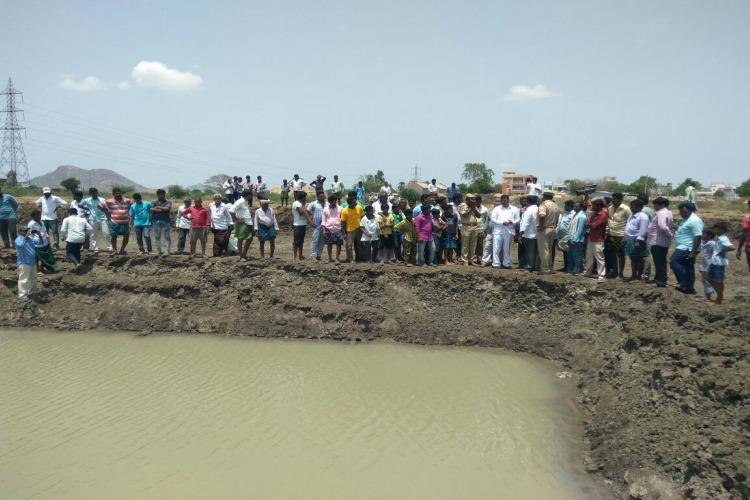 3 kids drown 7 rescued after falling into pit dug up for road expansion in Andhra