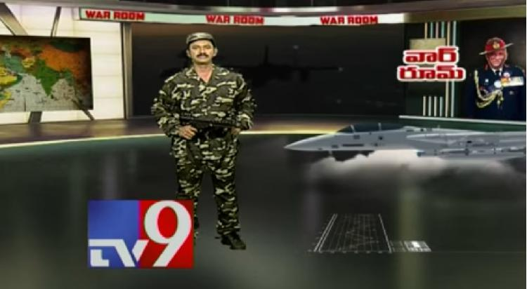 Wearing army fatigues, holding a toy gun, TV9 anchor goes viral