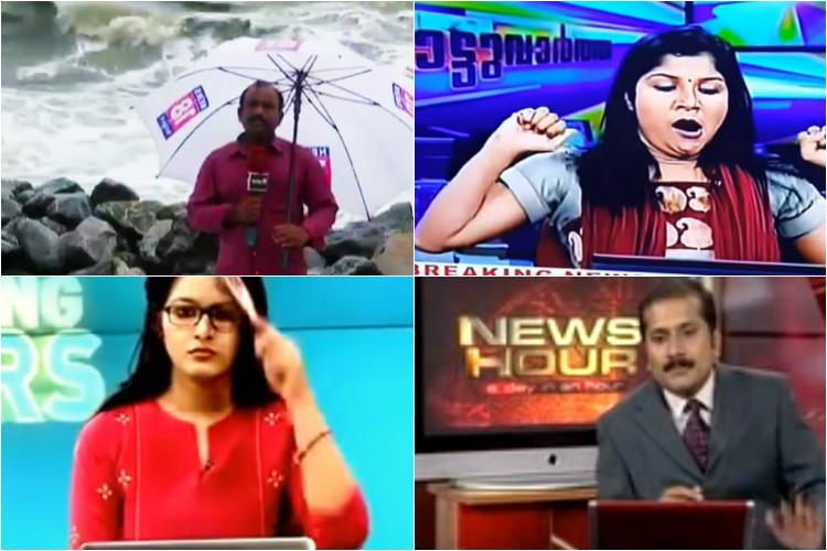 Watch Mixing up lines to yawning on cam hilarious bloopers of Malayalam news anchors