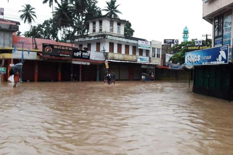 Parts of Thiruvananthapuram and Kollam have been flooded after heavy rainfall