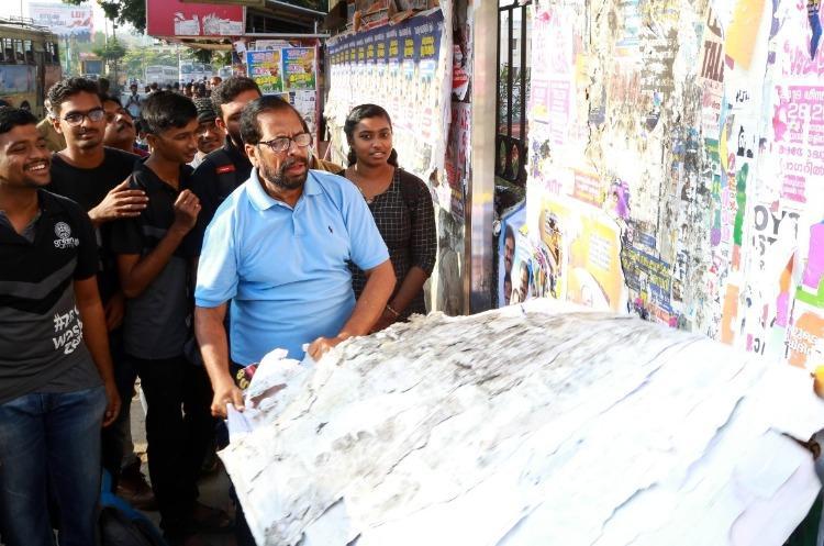 Trivandrum mayor and volunteers clean walls to reveal Arteria paintings on city walls