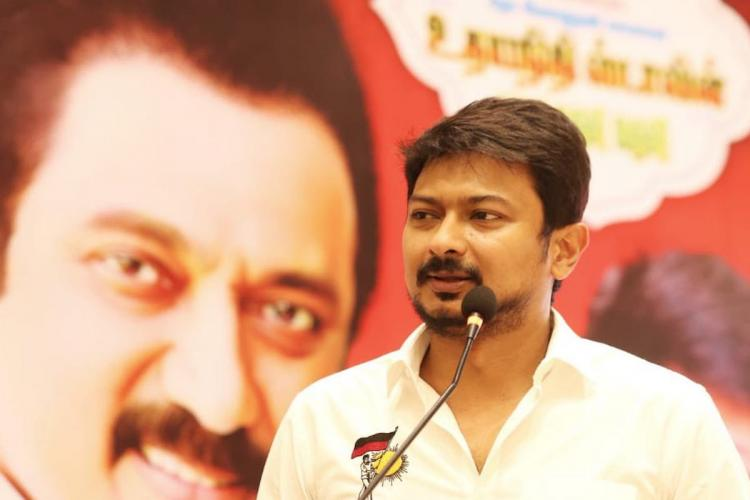 DMK youth wing president Udhayanidhi Stalin