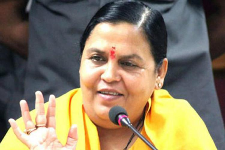 Rapists should be beaten wounds sprinkled with chilli Uma Bharti