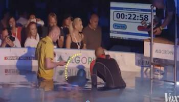 Watch video How one man created a Guinness record by holding his breath for 23 minutes