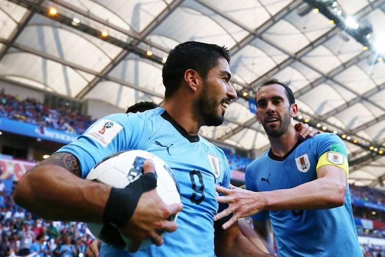 FIFA World Cup Suarez strike helps Uruguay beat Saudi Arabia to enter pre-quarters