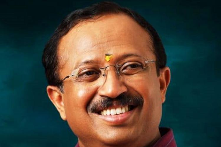 V Muraleedharan smiles in a profile photo