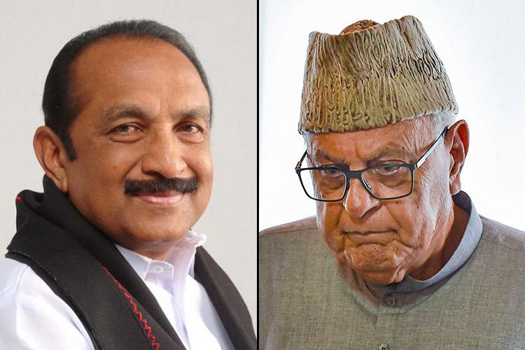 SC issues notice to Centre in Vaiko plea on Farooq Abdullah's release
