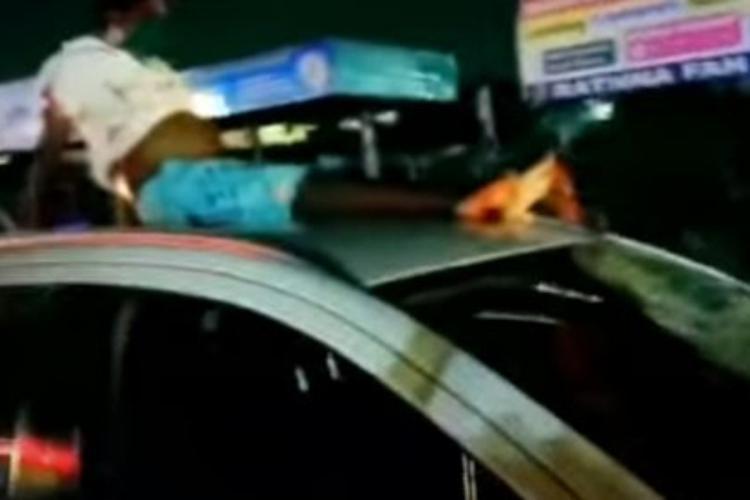 Screengrab of mishap in Vanagaram-Ambattur