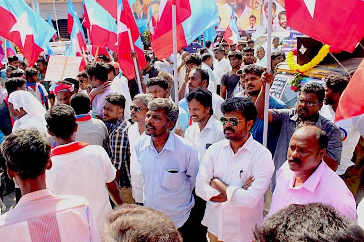 Protests against SCST Act dilution Dalit activists angered by TN medias apathy