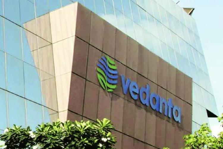 Vedanta logo on building